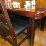 たかしまコーヒー店 - 頑丈な椅子