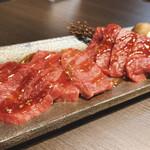 松坂牛ホルモン割烹焼肉 かつら - 左から:マルシン、ソトモモ、ウチモモ