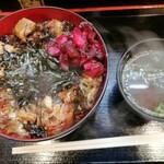 宇奈とと - うなめしギガ増し+ 1100円 無料のしば漬と無料チケットで赤出汁の味噌汁