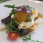 1571078 - プランツォAの前菜(牛ヒレ肉のタリアータルッコラ添え)