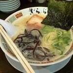 九州大牟田ラーメン きらら - ばりこて塩ラーメン(麺の太さ)