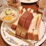 珈琲の森 - ミックストーストサンド 420円