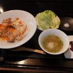 15712423 - ランチ 軍鶏親子丼 1000円 【 2012年11月 】
