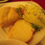 軽井沢倶楽部 ホテル軽井沢1130 - サラダ・パンももちろん取ります。