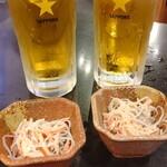蔵元居酒屋 清龍 - 生ビール(サッポロ 税別 399円)スリムじゃないよ。