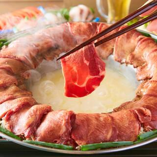 当店名物!自慢の牛タン葱しゃぶ♪特製鶏白湯スープが美味い!