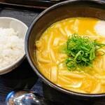 Kareudonsenkichi - 千吉カレーうどん 追加のご飯と温玉