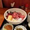 割烹たなか - 料理写真:魚河岸丼は胡麻ダレとワサビ
