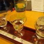 石まつ 三代目 - 利き酒セット(宝剣、奥播磨、乾坤一)