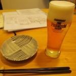 石まつ 三代目 - 生ビールはプレモル