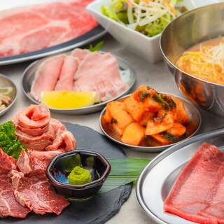 大人気!「仙台牛タン×赤身寿司・国産リブ食べ放題コース」