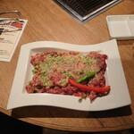 表参道焼肉 KINTAN - 黒毛和牛の切り落とし焼肉セット1,680円のメイン。