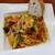 鞍馬 - 料理写真:自家製サルシッチャとブロッコリーのトマトソーススパゲッティ、パン