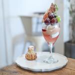 夏空 - 2021年8月再訪:8月のパフェ 桃と初秋の果実☆