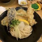 フランケル - 野菜天+海老天ぶっかけ