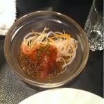 中国菜館 桃の花 - マグロの刺身 山椒ソース