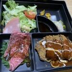 豚竹林 - ビーフカツ定食