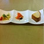 イタリア厨房 KUNISHIMA - 前菜2種とフォカッチャ