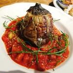 SATO - フィレンツェ大茄子の肉詰め 季節野菜のトマトソース