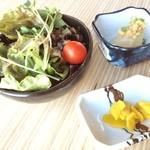 和雅家 - ランチのサラダ