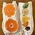 果じゅる - 料理写真:右:クリームチーズ入り ミックスサンド…税込680円 左:みかんサンド…税込626円