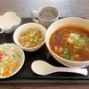 バーンタイ台所 - 料理写真:ランチ3(トムヤム クン ラーメンセット)1,100円