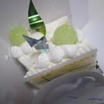 ル・ジャルダン・ブルー - メロンのショートケーキ