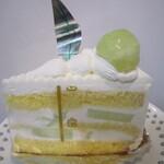 ル・ジャルダン・ブルー - メロンのショートケーキ・サイドから