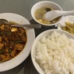 157245722 - 葉ニンニク入り麻婆豆腐定食880円