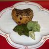 Sampiryouron - 料理写真:おまかせコース(税込 3,900円)評価=◎:夏タラの山椒焼き、きゅうりの大根おろし、宮崎の甘長ししとうのマスタード焼き