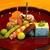 日本料理 たかむら - 料理写真:八寸  アサリと春菊の胡麻寄せ、秋田産の天然車海老、京都産の大黒しめじの旨煮、きぬかつぎ  京都の錦胡麻のせ、秋田産の枝豆の塩茹で、秋田産の揚げ新銀杏、バイ貝の旨煮、特製玉子焼き、バチコ