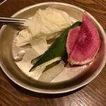 タル家 - お通しの野菜