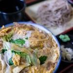 Furusatokikou - カツ丼 + 冷たい蕎麦(880円)