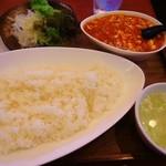 中国めしや 竹竹 - 麻婆豆腐定食(激辛)