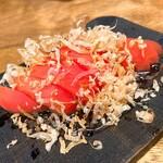 蕎麦と天ぷら やまうち - トマトナムル
