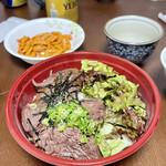 精肉・卸の肉バルSanoso - 炭火焼きハラミ丼 上