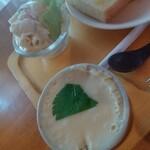 喫茶 ピットイン - 茶碗蒸しとマカロニサラダ