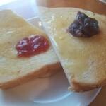 喫茶 ピットイン - ジャムと小倉のトースト