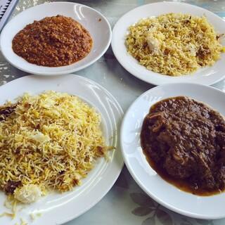 カシミール - 料理写真:マトンカリー+チキンキーマカリー