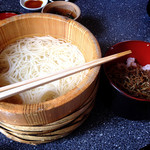 15730050 - 生素麺とミニひしお丼