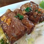 楽園の果実 - 宮古島産黒毛和牛のステーキ丼