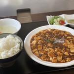 四川麻婆専家 辣辣 - 料理写真:ホルモン入り麻婆豆腐定食大盛り