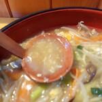 割烹食事 井谷 - 2021年8月 スープ(ピンボケ)