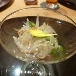 趣肴 あおき - 2012.11 白魚でコースがスタート、、上品なお味