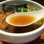 麺屋江武里 - 「江戸醤油ら~麺 大盛」スープ