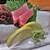 舟人 - 料理写真:左から ウマヅラ、星カツオ、水いか