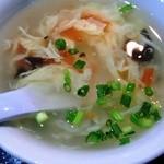 15735496 - 定食のスープ(ちゃんとした中華スープ)