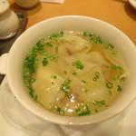 鼎泰豐 - 海老、ブタ肉入りワンタンスープ