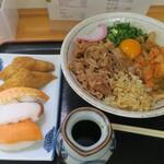 本手打ちうどん 空 - 料理写真:スタミナうどん+寿司セット
