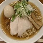 自家製麺 ラーメン創房 忠虎 - 料理写真:冷製本節中華そば 煮玉子のせ